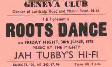 Jah Tubbys Playing Roots @ Geneva's 1978