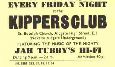 Jah Tubbys @ Kippers - the place to be !!!!!