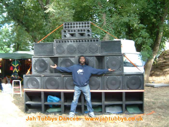 1 Stack of our Boxes @ the JA Sound Festival 2006.. World System ina France......